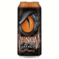 Напиток энергетический газированный VENOM Фруктовый Пунш низкокалорийный 473 мл