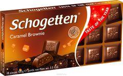 Молочный шоколад Schogetten Caramel Brownie Chocolate 'Карамельное пирожное' 100грамм