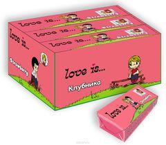 LOVE IS жевательные конфеты со вкусом Клубники 25 грамм