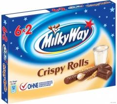 Шоколадные палочки Milky Way Crispy Rolls 150 грамм