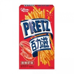 Хлебные палочки «Pretz» со вкусом креветок 65 грамм