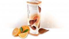 Бельгийские шоколадные чипсы с апельсином 80 грамм