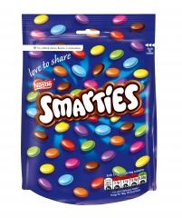 Разноцветное шоколадное драже Nestle Smarties Pouch Bag 118 грамм