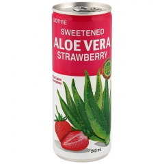 Напиток Lotte Алоэ Вера вкус клубника 240 мл