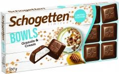 Шоколад молочный Schogetten Bowls сливочный крем-сыр с гранолой 100 гр