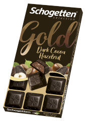 Шоколад темный Schogetten Gold с какао-кремом и фундуком 100 гр