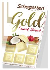 Шоколад белый Schogetten Gold с кокосом и дробленым миндалём 100 гр