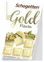 Шоколад белый Schogetten Gold с дробленой фисташкой 100 гр