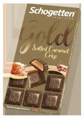 Шоколад молочный Schogetten Gold с хрустящей солёной карамелью 100 гр
