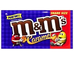 Шоколадное драже M&Ms Caramel (со вкусом карамели) 80 грамм