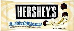 Шоколад Hersheys Cookies с печеньем и кремом 100 грамм