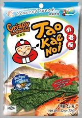 TAO KAE NOI Crispy Seaweed Seafood Flavour Морепродукты 32 грамма