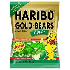 Жевательный мармелад 'HARIBO' Мишки с вкусом яблока(Gold Bears Apple) 113грамм