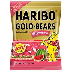Жевательный мармелад 'HARIBO' Мишки с вкусом арбуза(Gold Bears Watermelon) 113 грамм