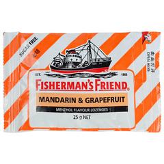 Мятные леденцы Fisherman's Friend со вкусом мандарина 25 грамм