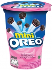 Печенье Oreo Mini Strawberry Cookies (Клубничный крем) 61.3 грамм