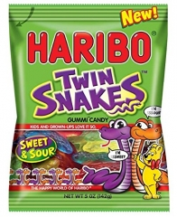 Жевательный мармелад 'HARIBO' червяки близнецы (Twin Snakes) 142грамма