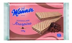 Вафли Manner Knuspino с шоколадным кремом 110 гр