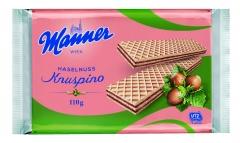 Вафли Manner Knuspino с ореховым кремом 110 гр