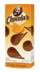 Шоколадные чипсы 24 Chocola's Crispy Orange 80 грамм