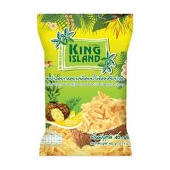 Кокосовые чипсы KING ISLAND со вкусом ананаса 40 грамм