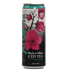 Напиток Arizona Black and White Iced Tea 0,68л