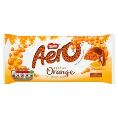 Молочный пористый шоколад Nestle Aero Апельсин 90 гр