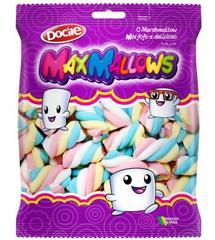Зефир MAXMALLOWS цветные завитки ванильные 250 грамм