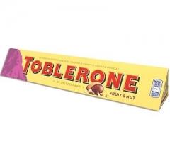Молочный шоколад Тоблерон Фрут энд Нат 100 грамм