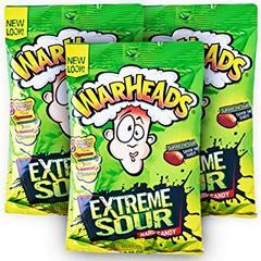 Карамель леденцовая суперкислая WarHeads Extreme Sour 56 грамм