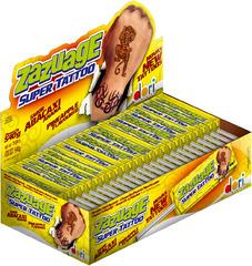 Жеват. конфета на палочке Zazuage Pineapple SuperTattoo 10,8 грамм