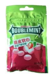 Жевательная конфета «Doublemint» со вкусом клубники 40 грамм