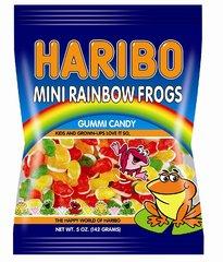 Жевательный мармелад 'HARIBO' Лягушки (Mini Rainbow Frogs) 142 грамма
