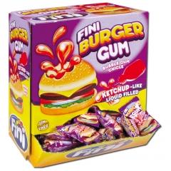"Жевательная резинка FINI ""Бургер"" с начинкой вишня-клубника 5,5 гр"