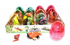 """Прозрачные пластиковые яйца с карамелью и игрушкой (самолеты) """"AIR FORCE"""" 6 грамм"""