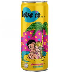 Газированный напиток LOVE IS Ананас и Кокос 330 мл
