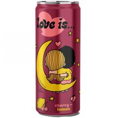 Газированный напиток LOVE IS Вишня и Лимон 330 мл