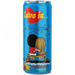 Газированный напиток LOVE IS Клубника и Банан 330 мл