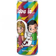 Газированный напиток LOVE IS Микс вкусов 330 мл