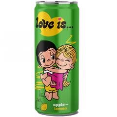 Газированный напиток LOVE IS Яблоко и Лимон 330 мл