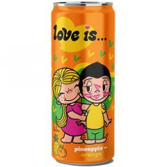 Газированный напиток LOVE IS Ананас и Апельсин 330 мл