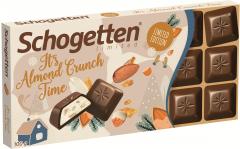 Шоколад молочный Schogetten с миндальной крошкой 100 гр