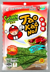 Снеки из морских водорослей TAO KAE NOI со вкусом красного перца 15 гр