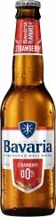 Пивной напиток светлый б/а Bavaria Клубника 330 мл стекло