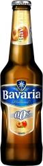 Пивной напиток светлый б/а Bavaria Персик 330 мл стекло