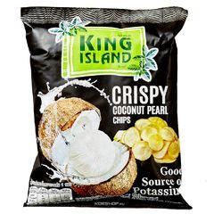 Кокосовые чипсы KING ISLAND из сердцевины пророщенного кокоса 40 грамм