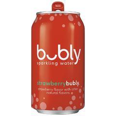 Напиток б/алк газированный BUBLY Strawberry (Клубника) 0,355л