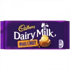 Шоколад Cadbury Dairy Milk WHOLENUT 200 гр