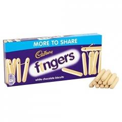 Печенье Cadbury пальчики в белом шоколаде 138 гр