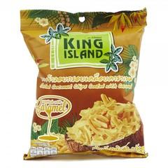 Кокосовые чипсы KING ISLAND с карамелью  (40 грамм)